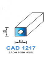 CAD1217N Profil EPDM   70 Shore   Noir
