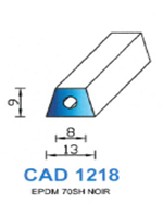 CAD1218N Profil EPDM   70 Shore   Noir