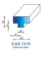 CAD1219N Profil EPDM   70 Shore   Noir
