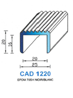 CAD1220B Profil EPDM <br /> 70 Shore <br /> Blanc<br />