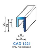 CAD1221G Profil EPDM   70 Shore   Gris