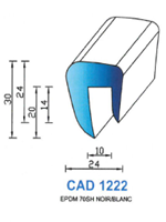 CAD1222B Profil EPDM <br /> 70 Shore <br /> Blanc<br />