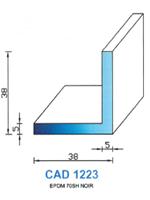 CAD1223B Profil EPDM   70 Shore   Blanc