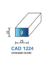 CAD1224B Profil EPDM   60 Shore   Blanc
