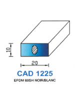 CAD1225B Profil EPDM   60 Shore   Blanc