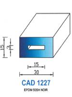 CAD1227N Profil EPDM   50 Shore   Noir