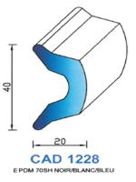 CAD1228B Profil EPDM   70 Shore   Blanc