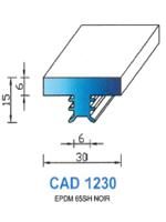 CAD1230B Profil EPDM   65 Shore   Blanc