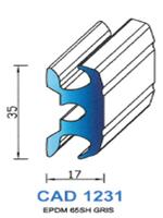 CAD1231G Profil EPDM   65 Shore   Gris