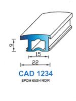 CAD1234N Profil EPDM   65 Shore   Noir
