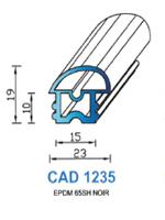 CAD1235N Profil EPDM   65 Shore   Noir