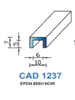 CAD1237N Profil EPDM   65 Shore   Noir