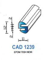 CAD1239N Profil EPDM <br /> 70 Shore <br /> Noir<br />