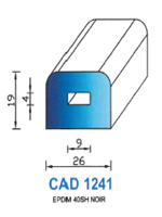 CAD1241N Profil EPDM   40 Shore   Noir