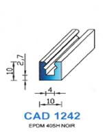 CAD1242N Profil EPDM   40 Shore   Noir