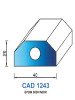 CAD1243N Profil EPDM   50 Shore   Noir