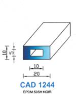 CAD1244N Profil EPDM   50 Shore   Noir