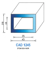 CAD1245N PROFIL EPDM - 60SH - NOIR