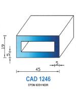 CAD1246N Profil EPDM   60 Shore   Noir