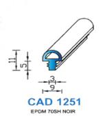 CAD1251N Profil EPDM   70 Shore   Noir
