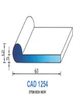 CAD1254N Profil EPDM   65 Shore   Noir