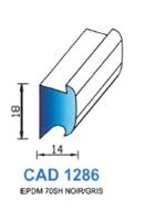 CAD1286G Profil EPDM   70 Shore   Gris