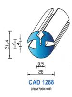 CAD1288N Profil EPDM <br /> 70 Shore <br /> Noir<br />