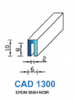 CAD1300N PROFIL EPDM - 65SH - NOIR