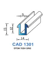 CAD1301N Profil EPDM   70 Shore   Noir