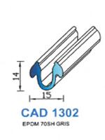 CAD1302G Profil EPDM <br /> 70 Shore <br /> Gris<br />
