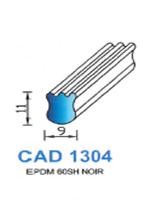 CAD1304N Profil EPDM   60 Shore   Noir