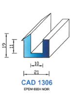 CAD1306N Profil EPDM   65 Shore   Noir