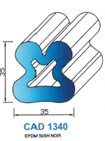 CAD1340N PROFIL EPDM - 50SH - NOIR