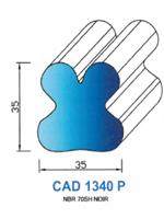 CAD1340P Profil NBR <br /> 70 Shore <br /> Noir Plein<br />