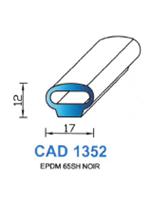 CAD1352N Profil EPDM   65 Shore   Noir