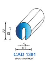 CAD1391N PROFIL EPDM - 70SH - NOIR