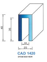 CAD1420N Profil EPDM <br /> 65 Shore <br /> Noir<br />