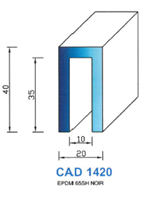 CAD1420N PROFIL EPDM - 65SH - NOIR