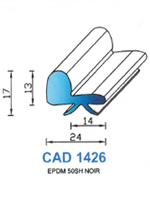 CAD1426N Profil EPDM   50 Shore   Noir