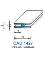 CAD1427N Profil EPDM   65 Shore   Noir