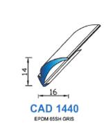 CAD1440G Profil EPDM   65 Shore   Gris