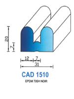 CAD1510N Profil EPDM   70 Shore   Noir