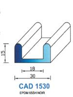 CAD1530N Profil EPDM <br /> 65 Shore <br /> Noir<br />