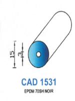 CAD1531N Profil EPDM   70 Shore   Noir