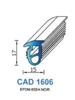 CAD1606N Profil EPDM   65 Shore   Noir