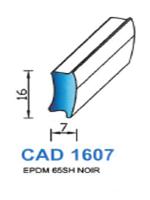 CAD1607N Profil EPDM   65 Shore   Noir
