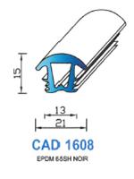 CAD1608N Profil EPDM   65 Shore   Noir