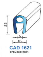 CAD1621N Profil EPDM   60 Shore   Noir