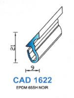 CAD1622N Profil EPDM   65 Shore   Noir