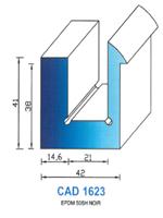 CAD1623N Profil EPDM   50 Shore   Noir